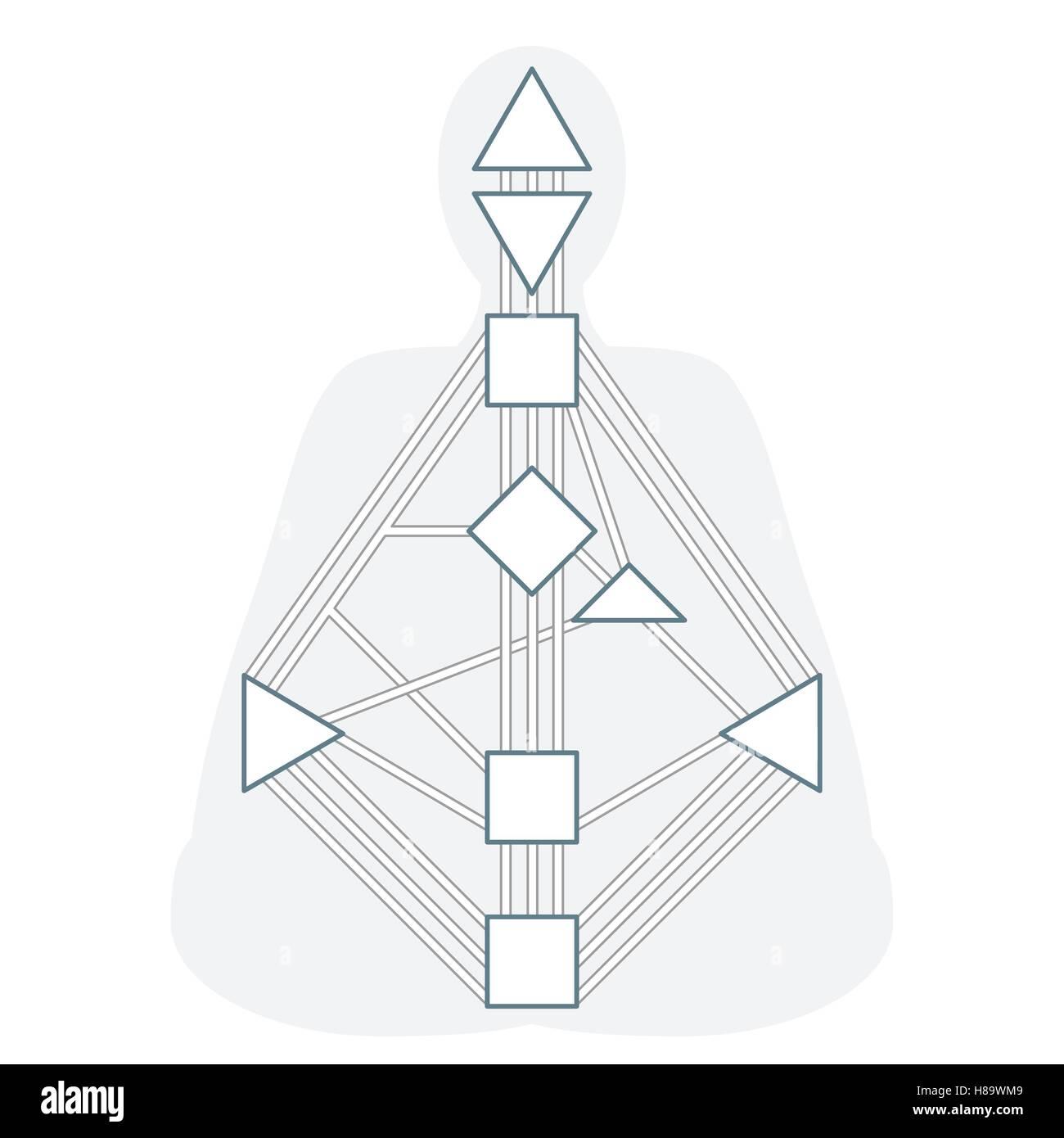 Esquema de diseño vectorial diseño gráfico del cuerpo humano ...
