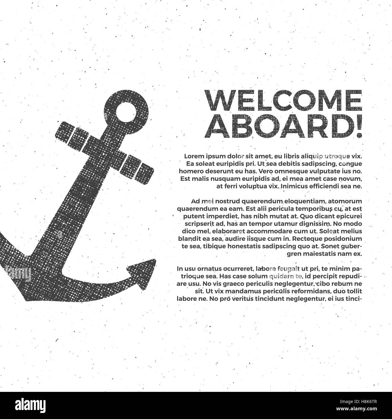 Diseño de banner náutico. Sailor vector poster plantilla. Diseño e ...