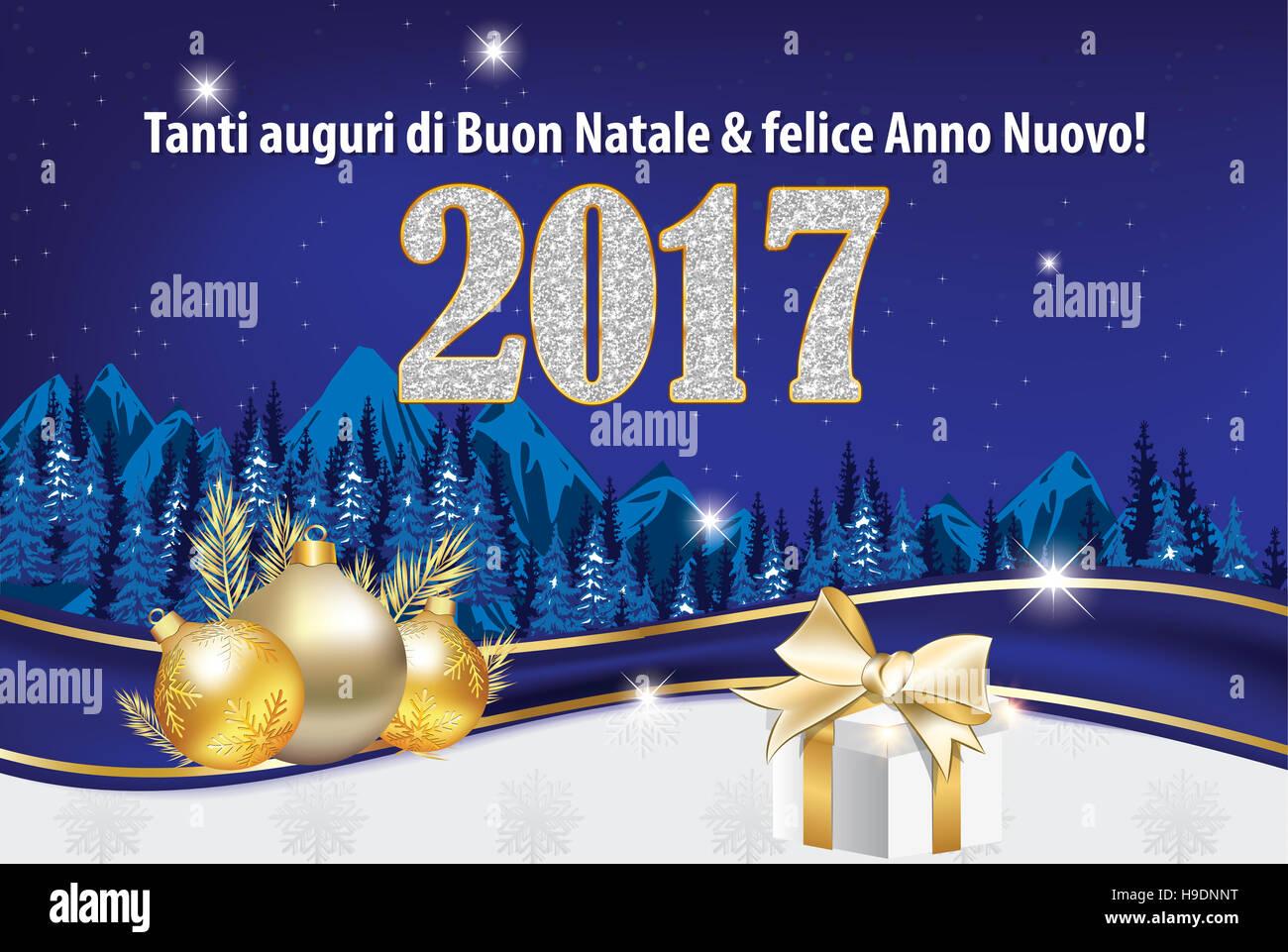 Tanti Auguri Di Buon Natale E Felice Anno Nuovo Biglietto D