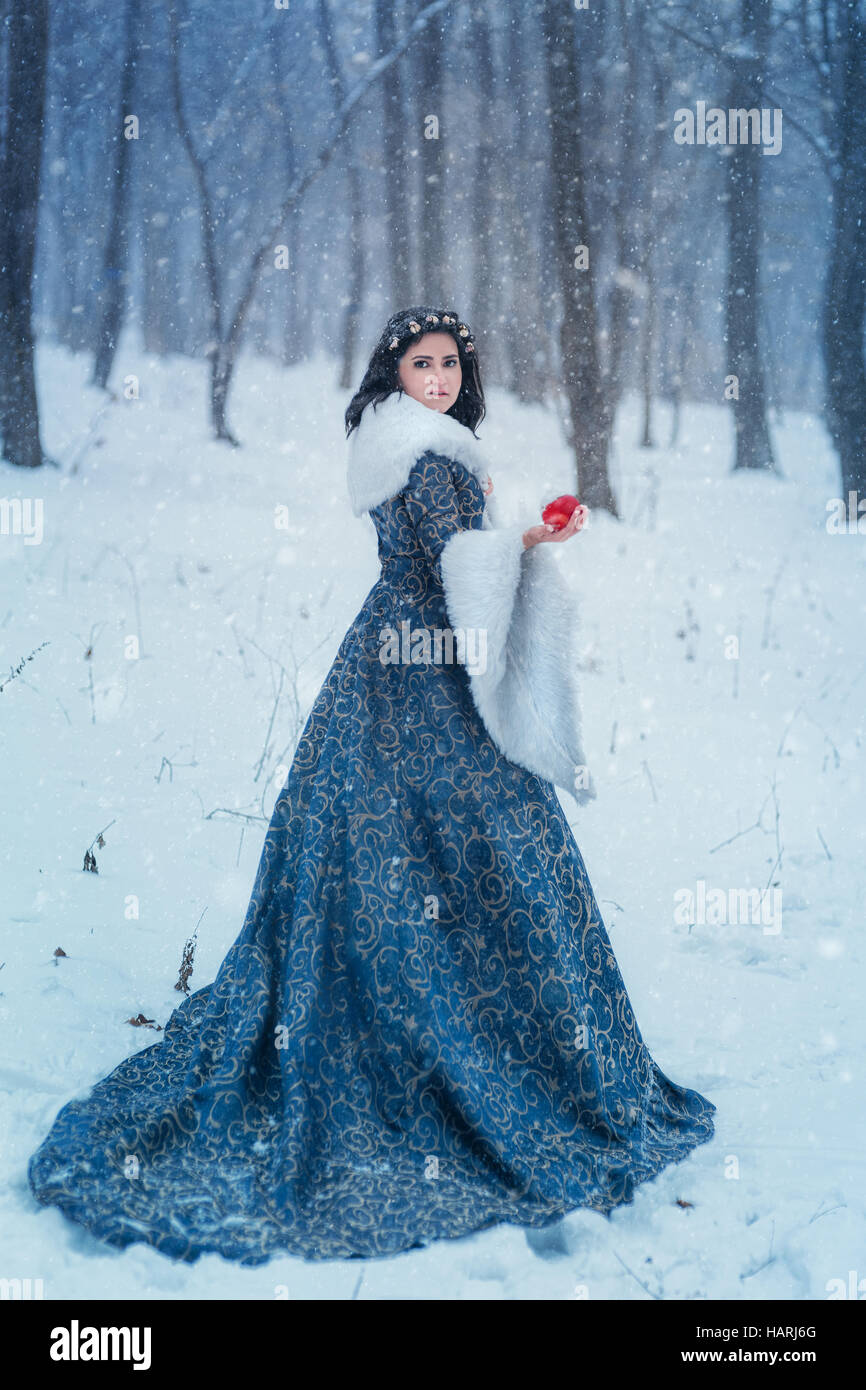 Retrato de Snow White Imagen De Stock