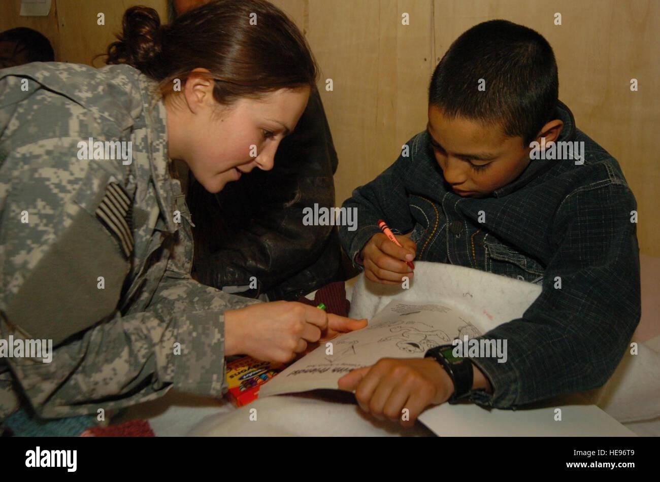 El Sargento. Heather Slater, desplegados desde la 367ª Compañía de ...