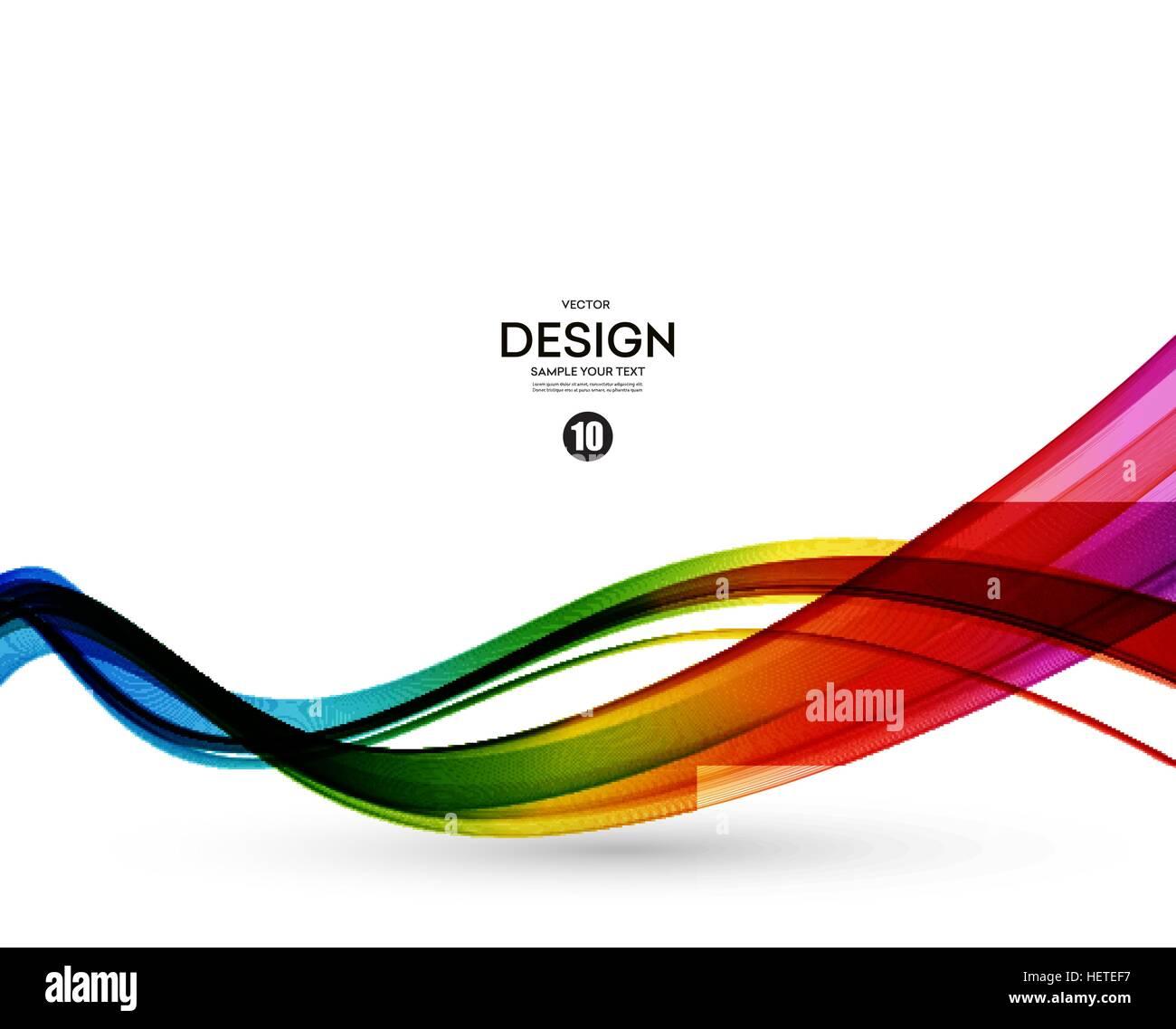 Resumen Antecedentes vector de onda, Rainbow agitó líneas para ...