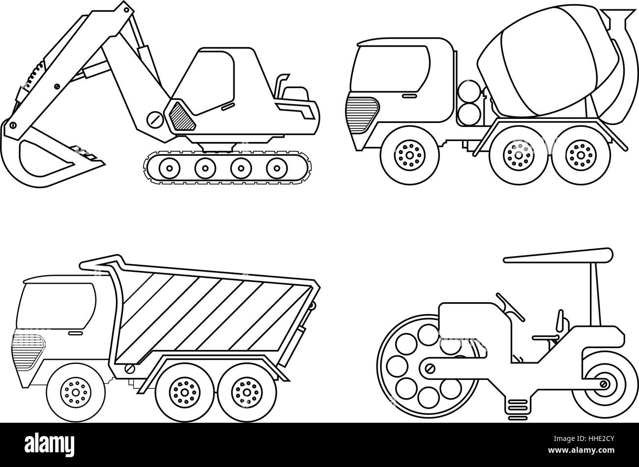 Increíble Camión De La Construcción Para Colorear Componente ...