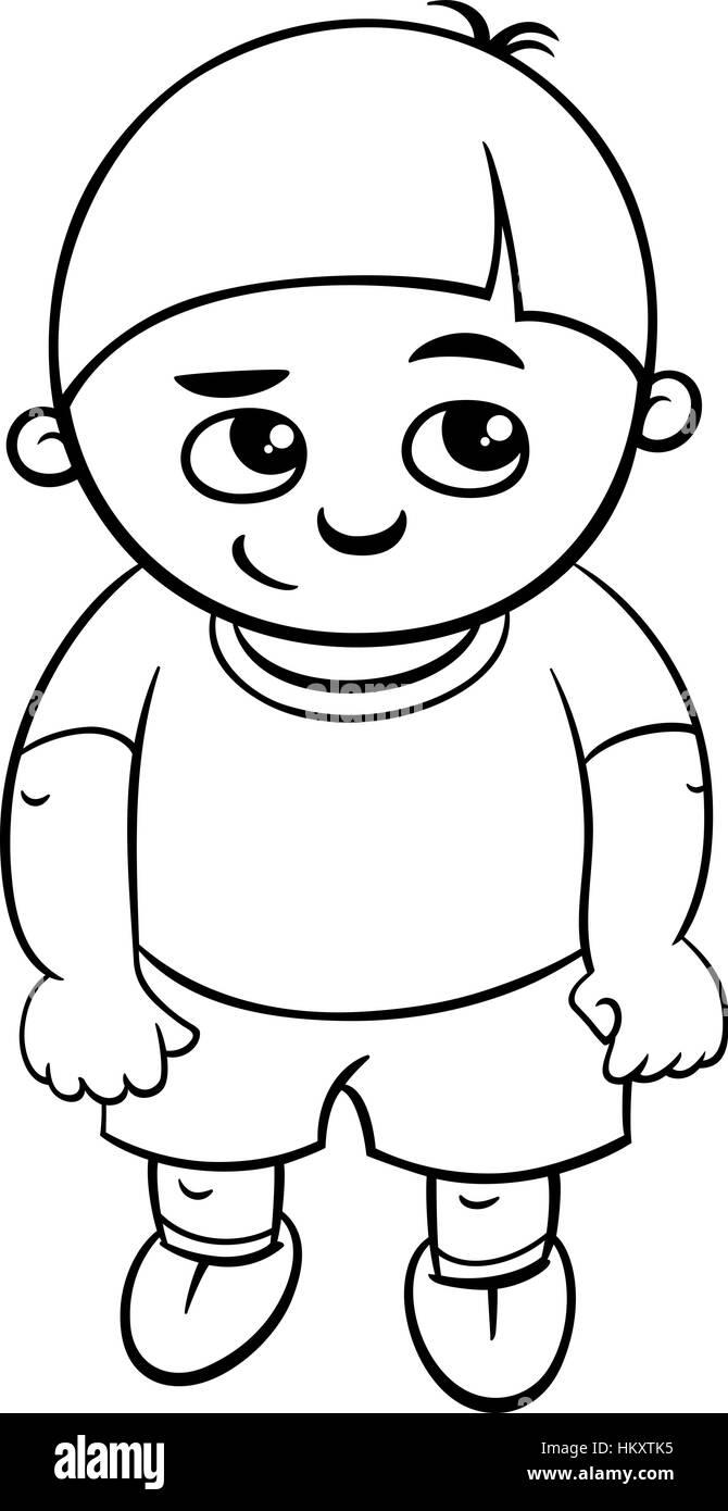 Ilustración caricatura en blanco y negro de la Escuela Elemental de ...