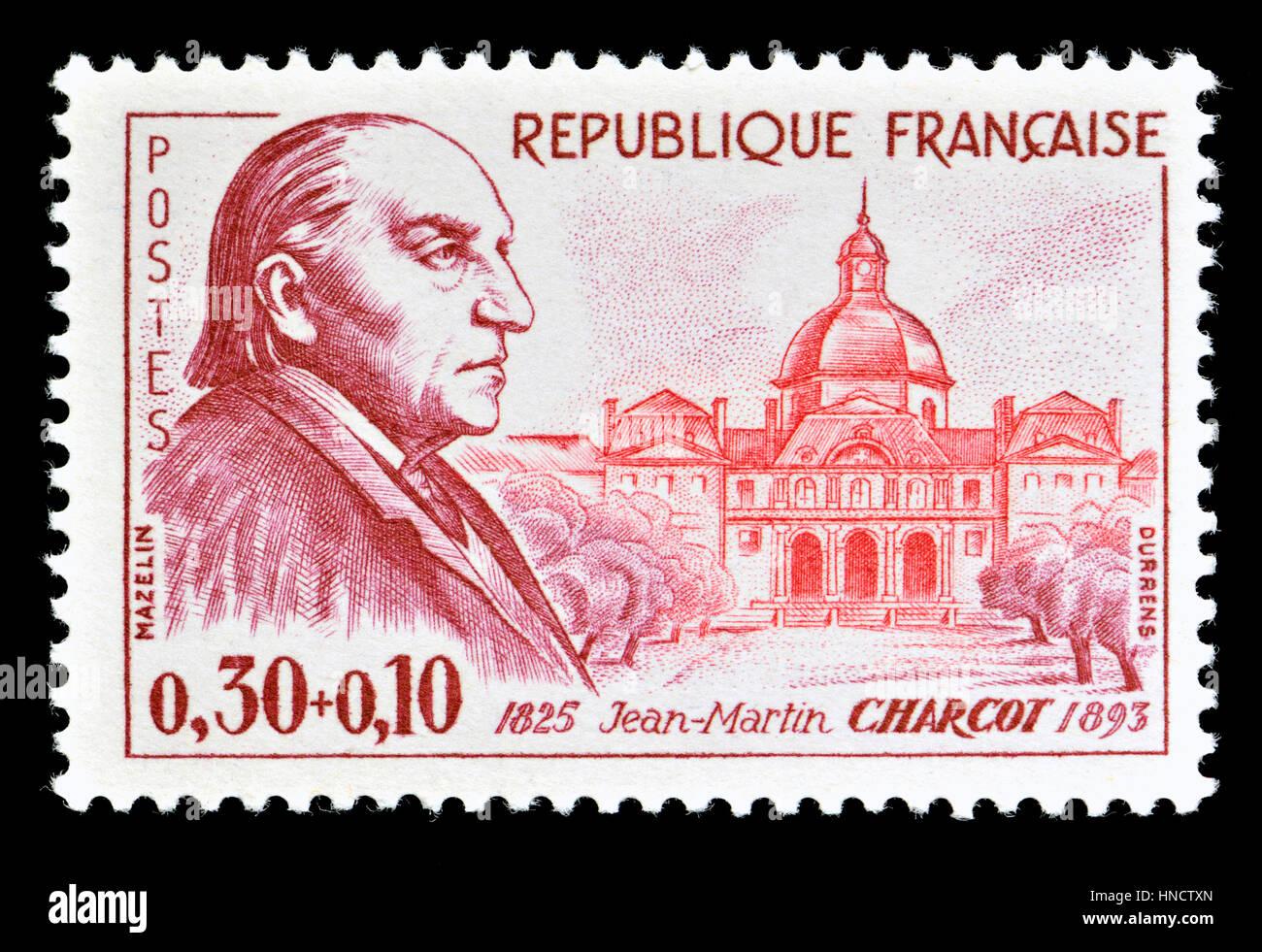 Sello francés (1960): Jean-Martin Charcot (1825-93) médico francés ...