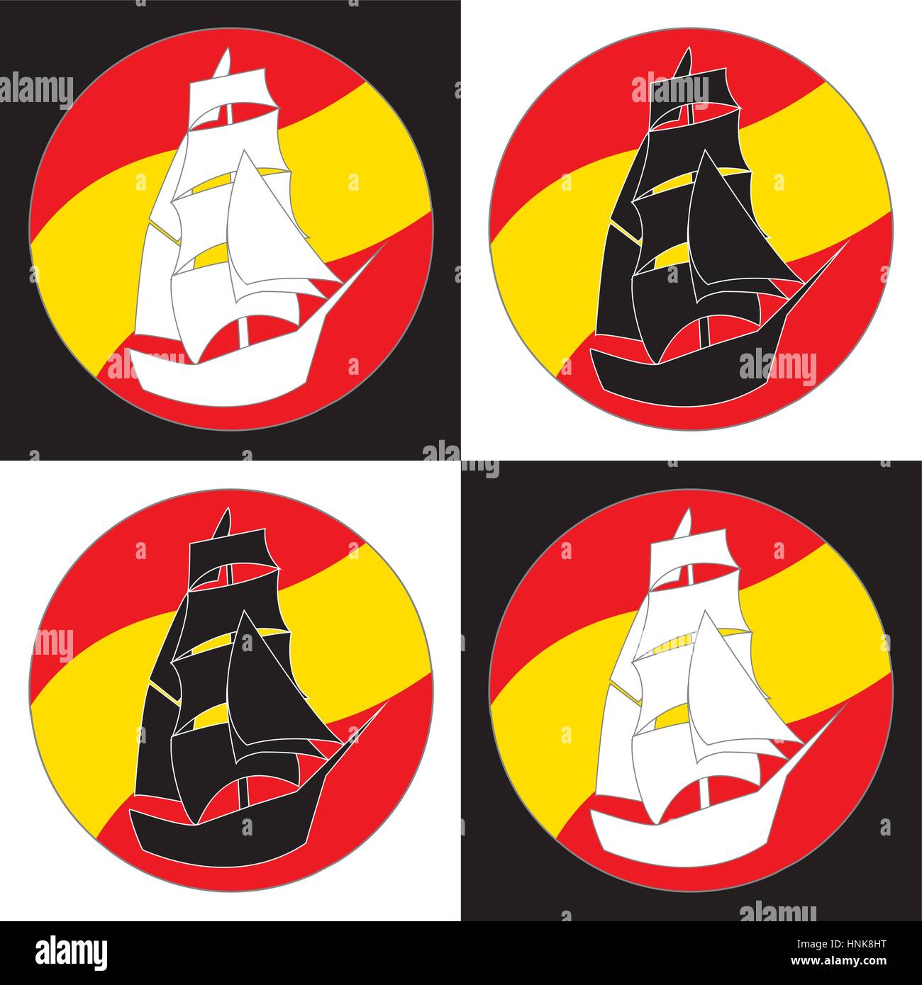 Vintage logotipo Barco Velero diseño plantilla vectorial. Velero ...
