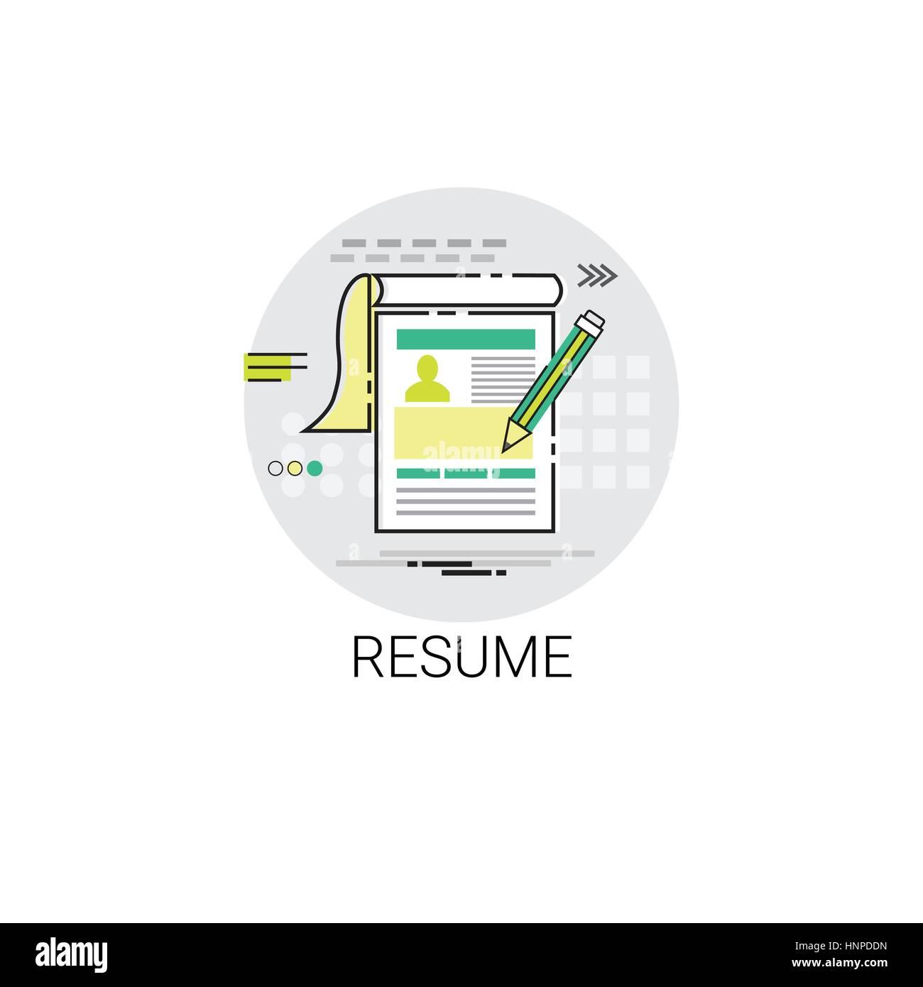Formulario CV reanudar la contratación de puestos vacantes el icono ...