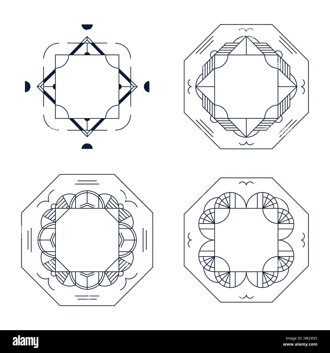 Elegante marco y diseño de fondo de la trama lineal geométrico. Los ...