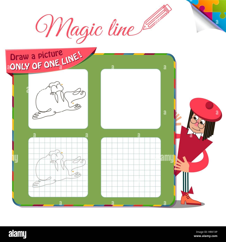 Visual juego para los niños. Libro para colorear educación. Tarea ...
