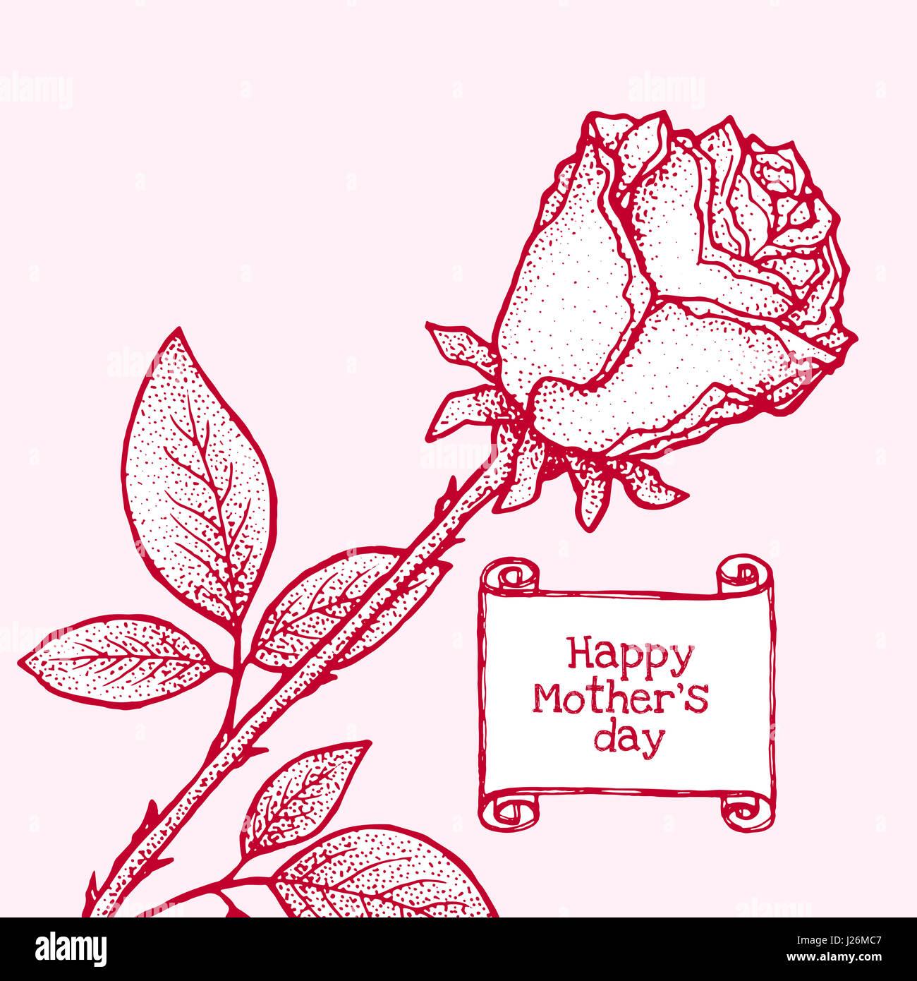 Feliz Día de la madre. elemento de diseño, plantilla de tarjeta de ...