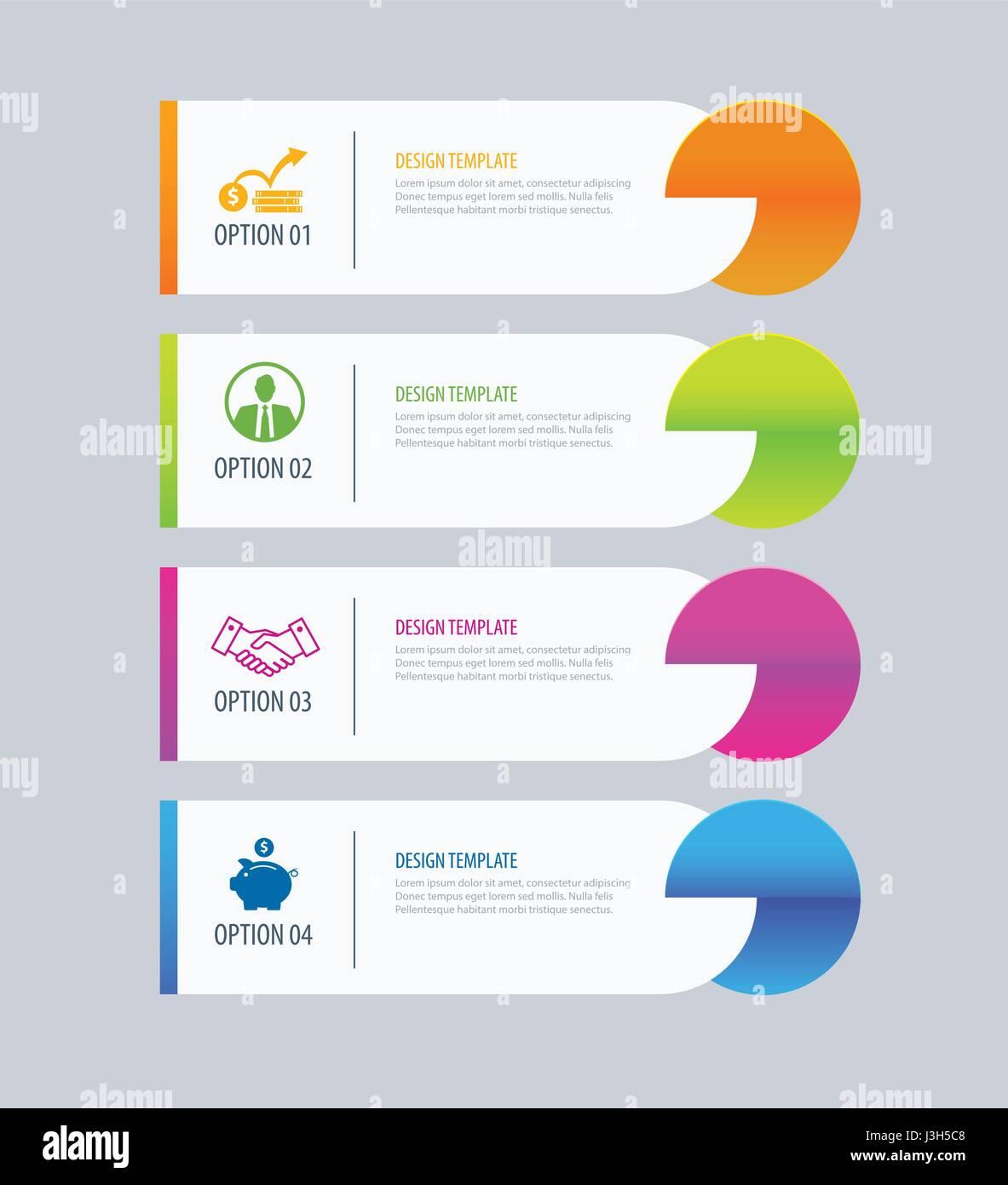 Ficha moderno índice opciones infográficos plantilla con hojas de ...