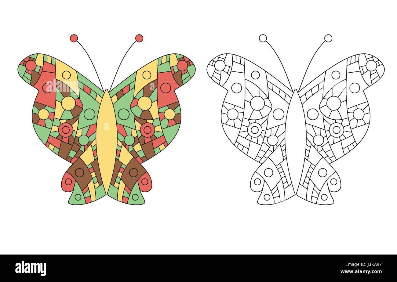 Página para colorear zentangle adultos dibujo anti-estrés. Color de ...