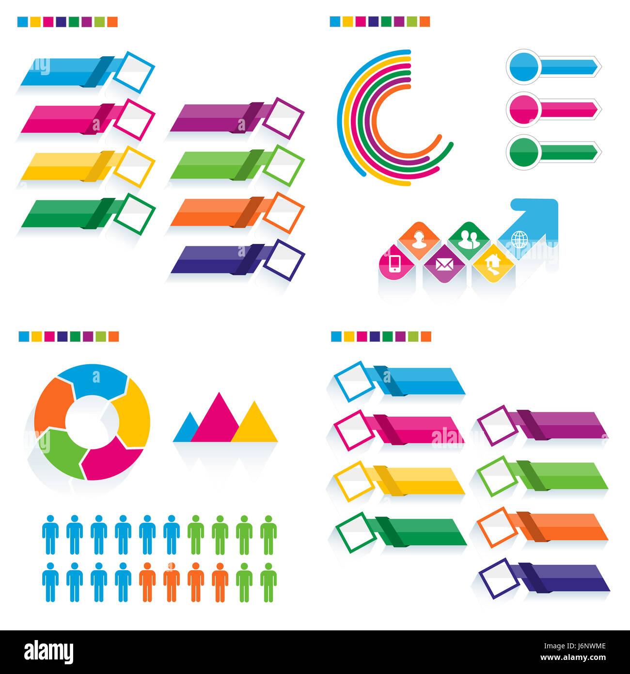 Infografía de negocio conjunto de plantillas. Ilustración vectorial ...