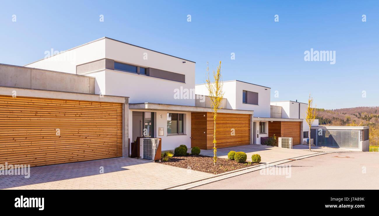 Deutschland Blaustein Moderne Mit Neubau Huser Bauen I Foto