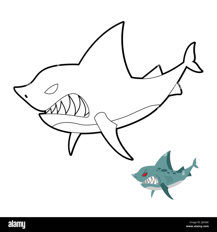 Excepcional Dibujo Para Colorear De Tiburón Martillo Adorno ...