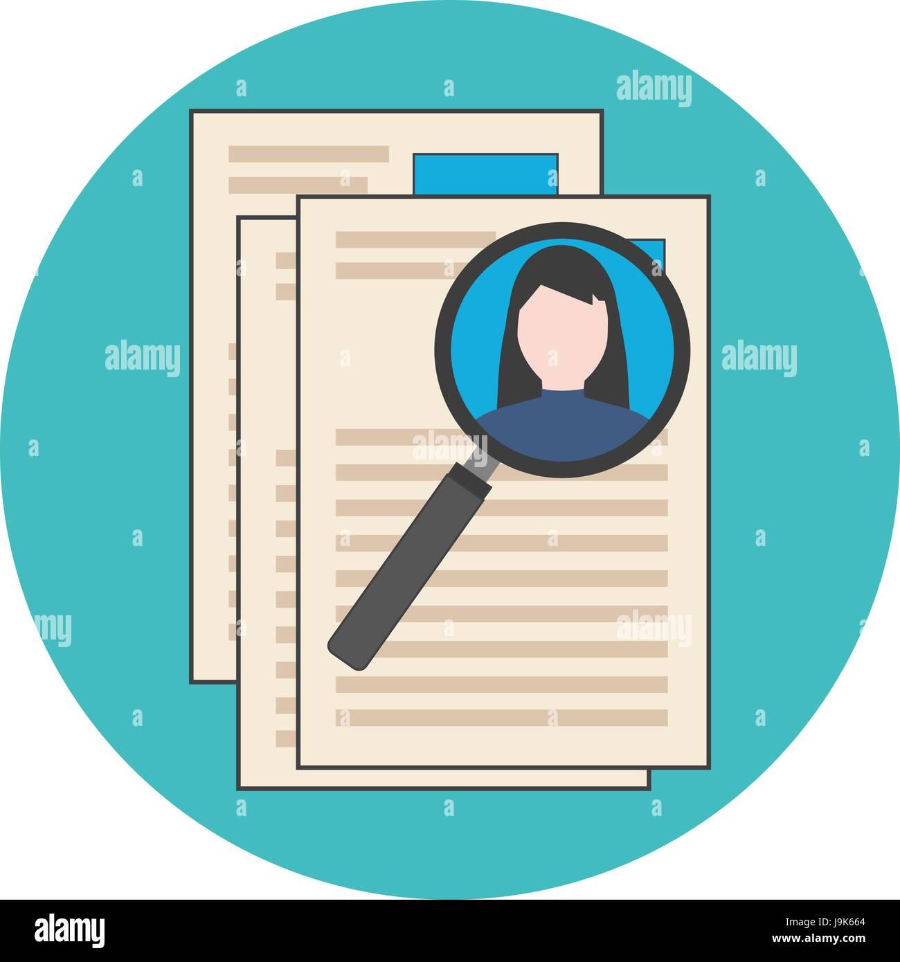 Búsqueda de personal profesional, analizando reanudar, concepto de ...