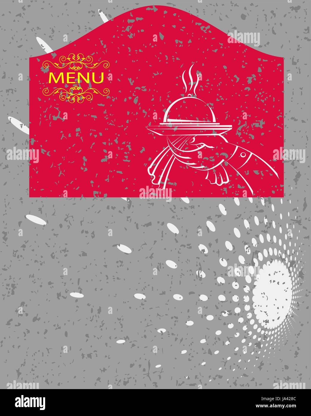 Menú plantilla Diseño de tarjeta Ilustración del Vector, Imagen ...