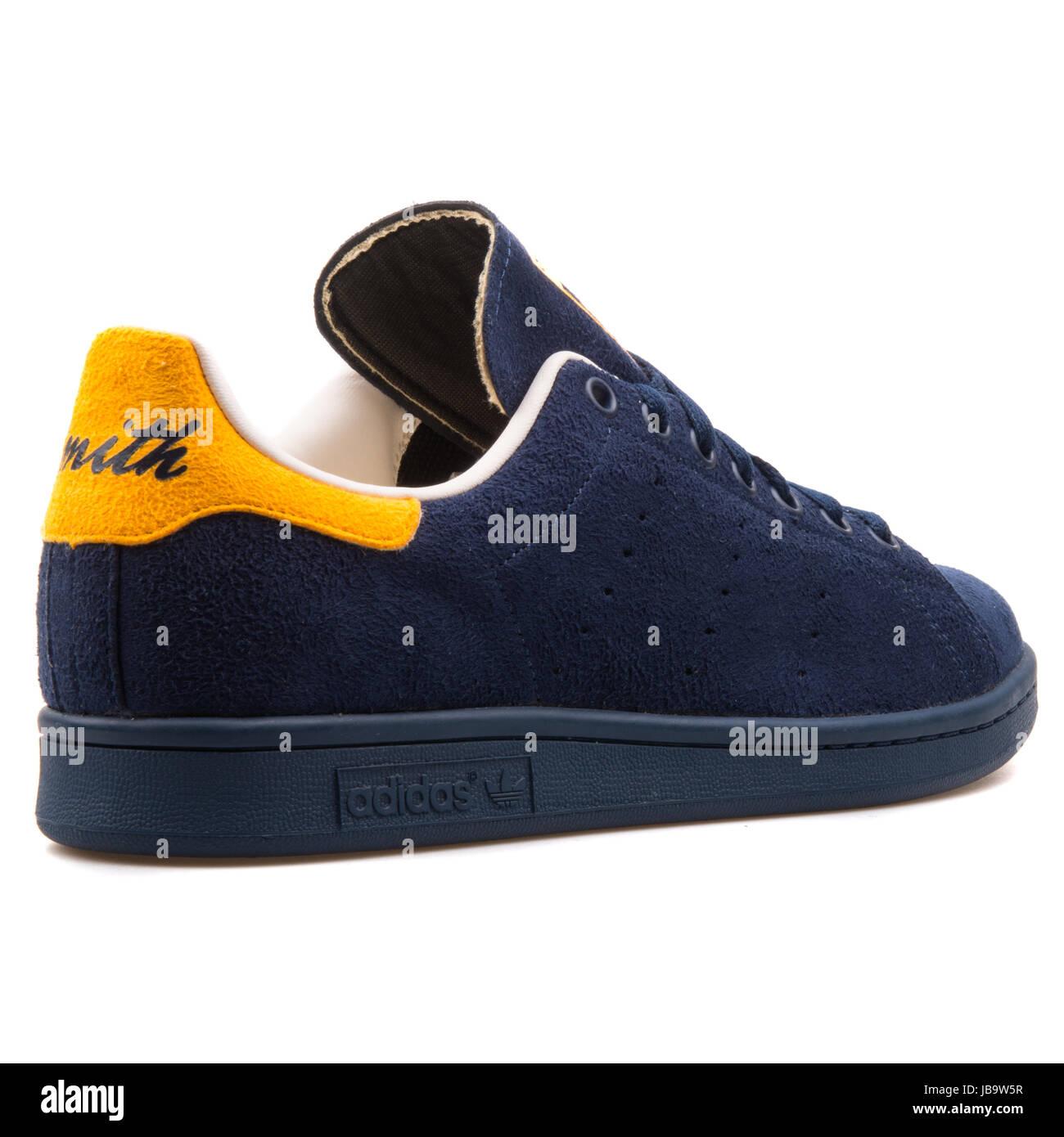 Adidas Stan Smith azul zapatos marino y amarillo hombres zapatos azul deportivos 7d9afc