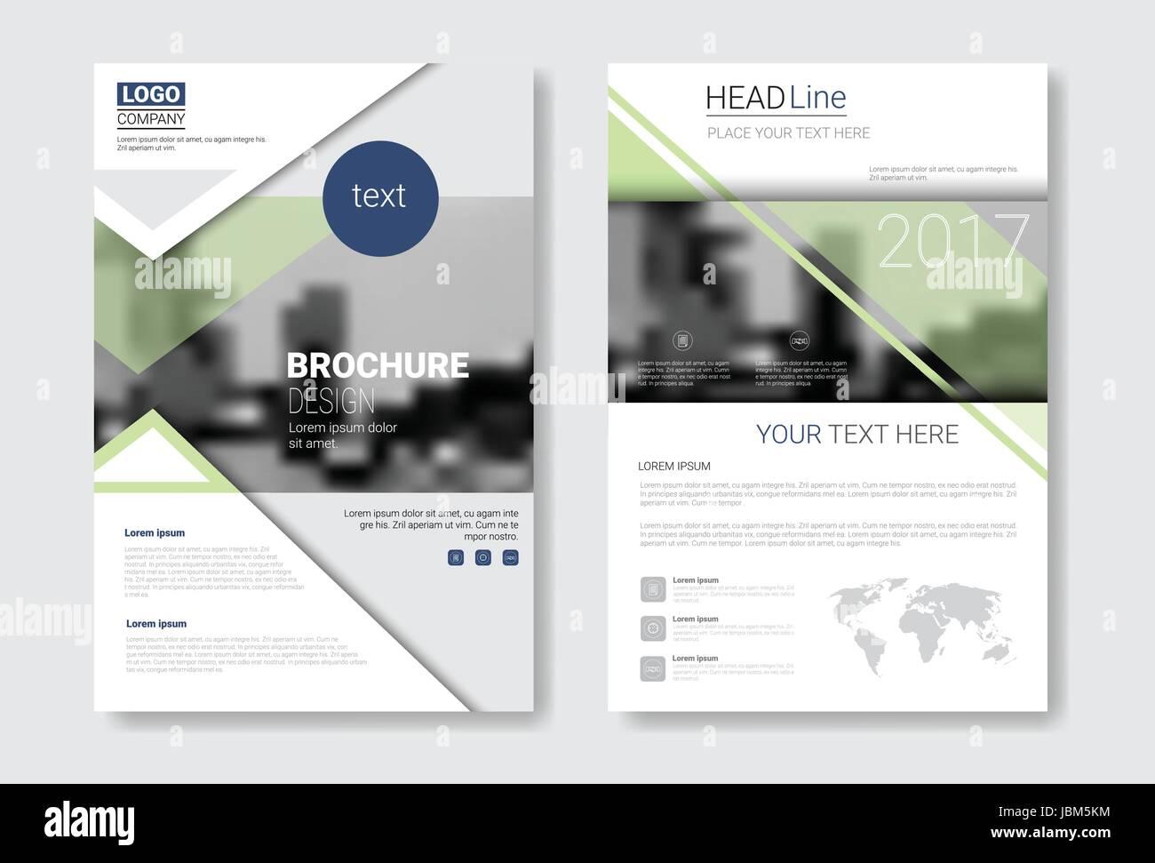 Diseño de Plantilla de folleto, Informe anual, revista, Cartel ...