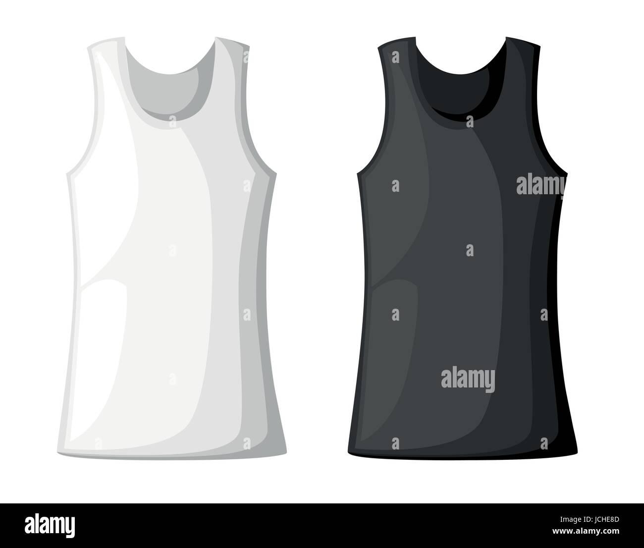Ilustración vectorial con realismo los hombres camiseta plantilla ...