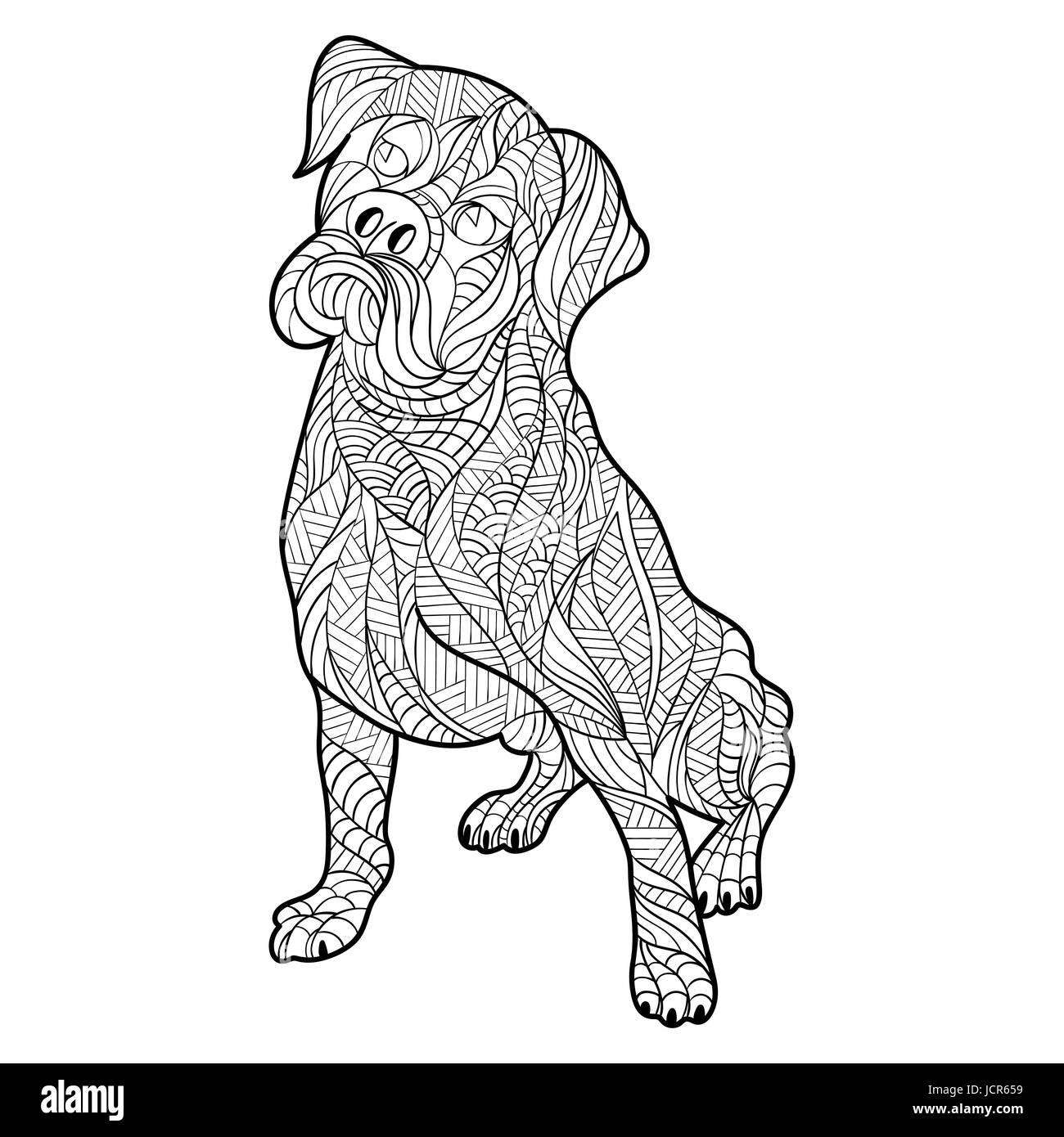 Bonito Páginas Duras Para Colorear De Perros Motivo - Dibujos Para ...