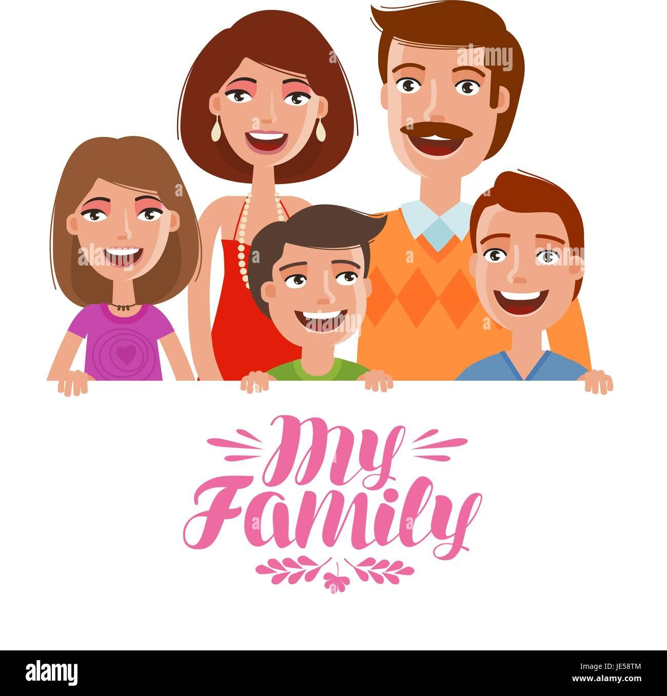 Familia feliz las personas los padres y los ni os for Concepto de la familia para ninos