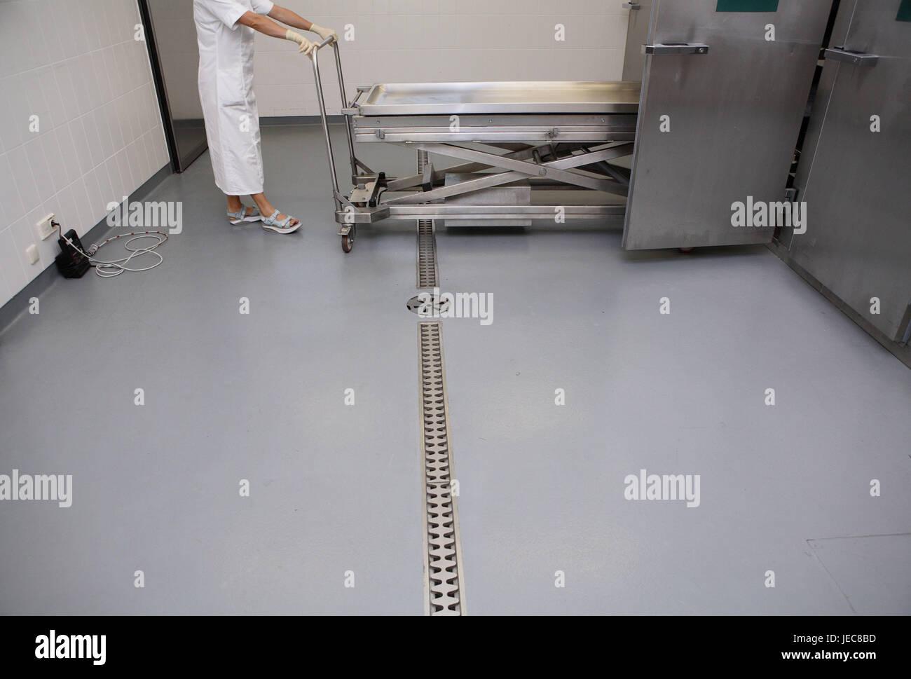 Hospital, departamento de anatomía patológica-, Angestelle Prosektur ...