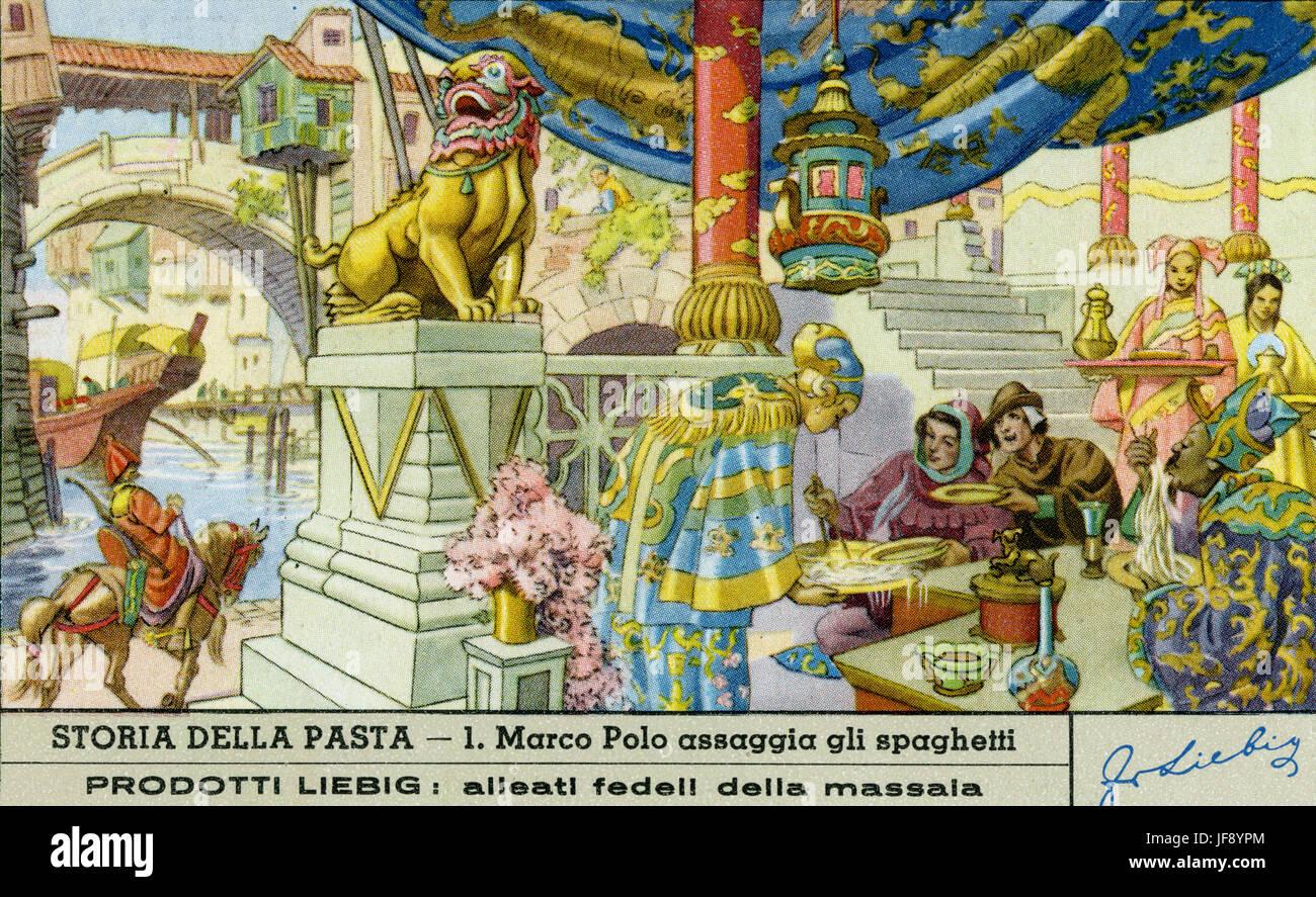 Marco Polo sabores espaguetis en China (la leyenda que Marco Polo ...