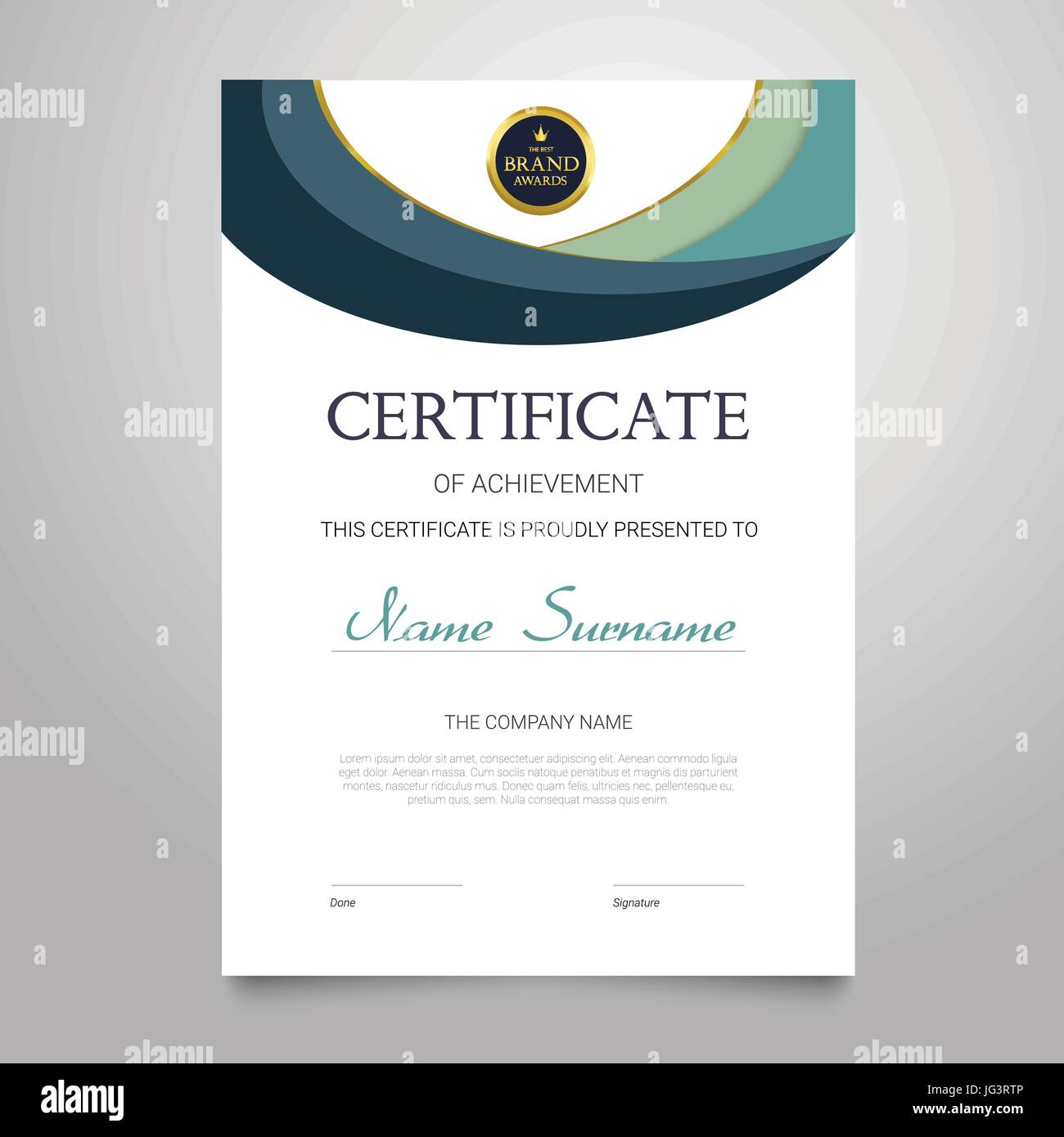 Plantilla de certificado - vector vertical moderno elegante ...