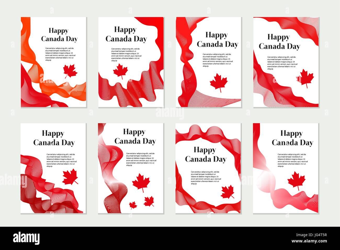 El Día de Canadá conjunto de plantillas para su diseño. Folletos ...