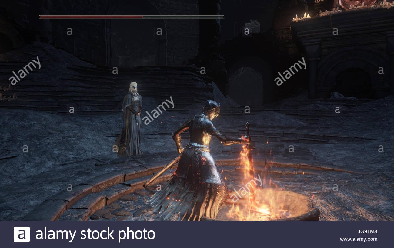 Una Captura De Pantalla Del Rpg Dark Souls 3 Video Juego En Ps4 Foto