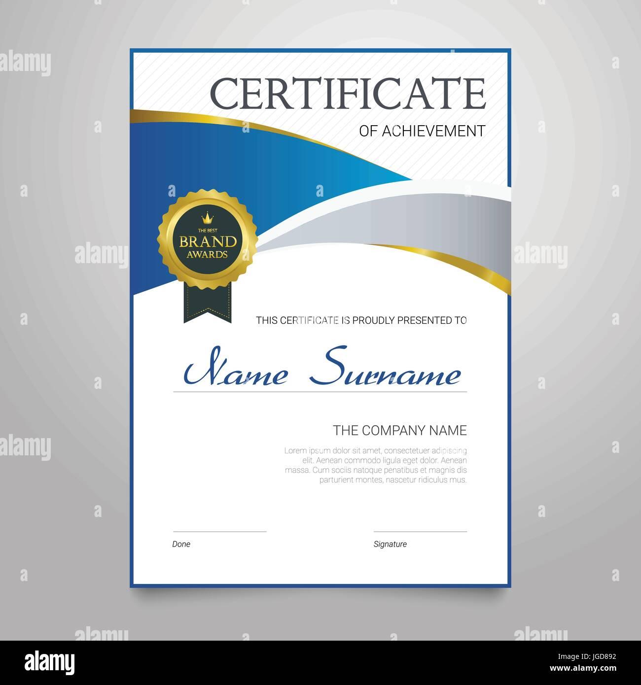 Certificado - vector vertical moderno elegante documento con un ...
