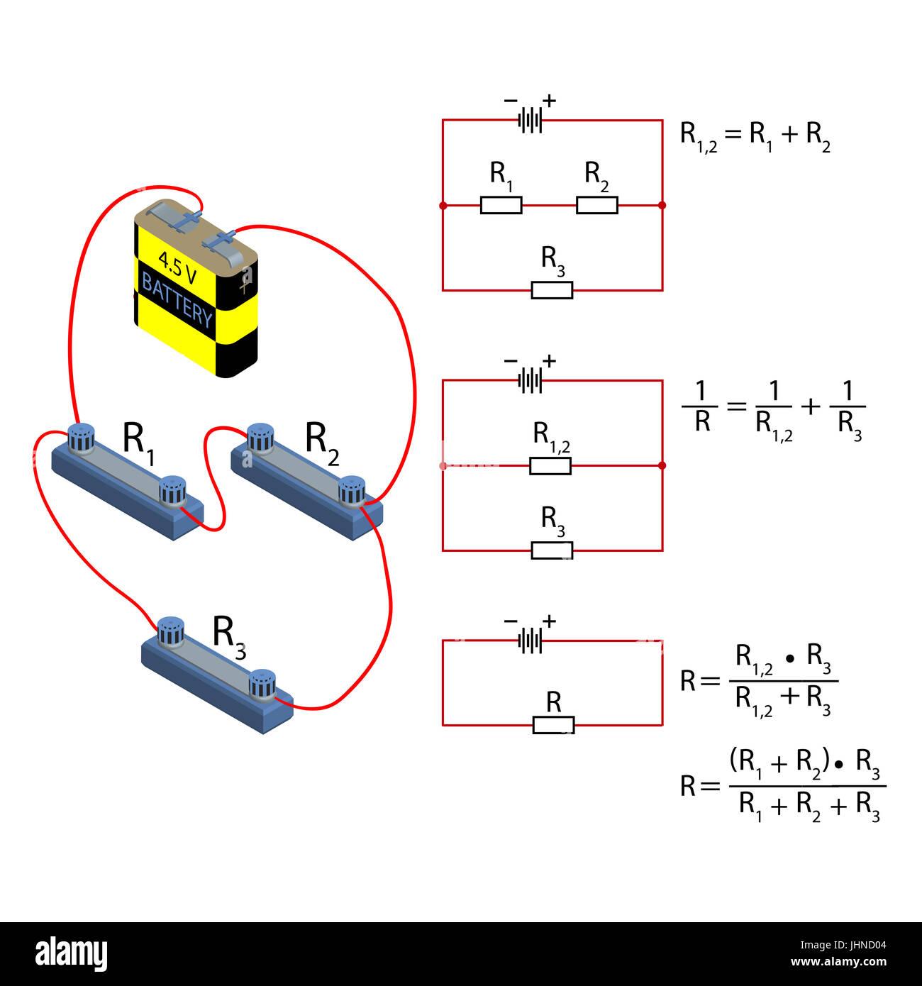 Circuito Serie Y Paralelo : Ejercicios de circuitos electricos en serie paralelo y mixto