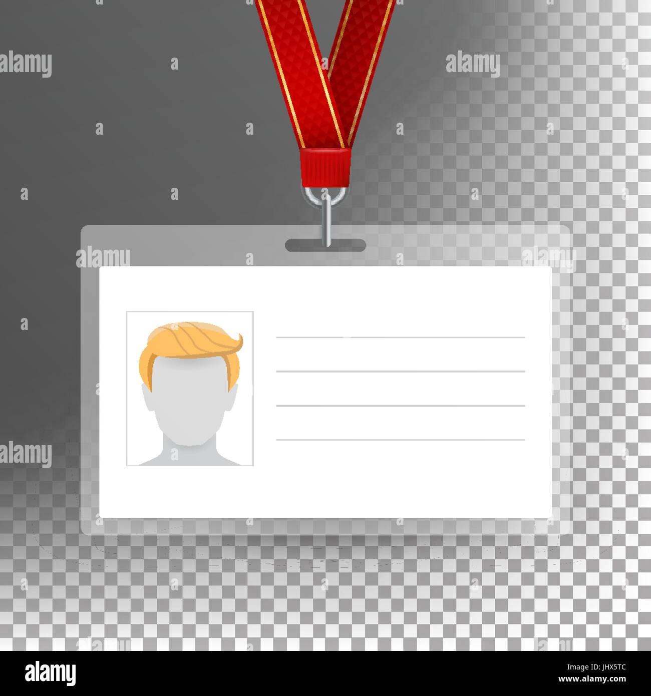 Vector Tarjeta de empleado en blanco. Plantilla de tarjeta de ...