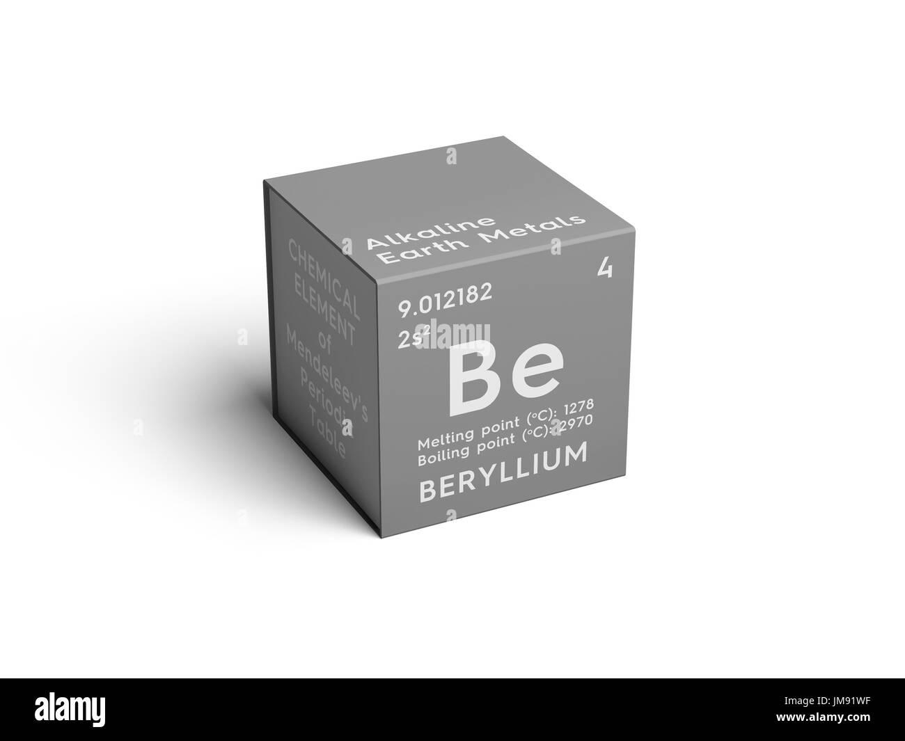 el berilio metales de tierras alcalinas elemento qumico de la tabla peridica de mendeleyev en el berilio square cube concepto creativo - Tabla Periodica Berilio