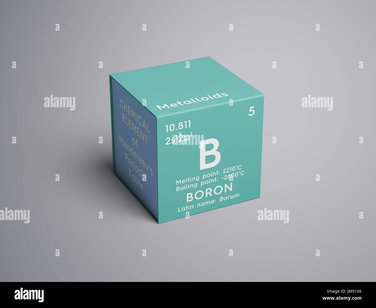 El boro los metaloides elemento qumico de la tabla peridica de el boro los metaloides elemento qumico de la tabla peridica de mendeleyev el boro en square cube concepto creativo foto imagen de stock 150175150 urtaz Images