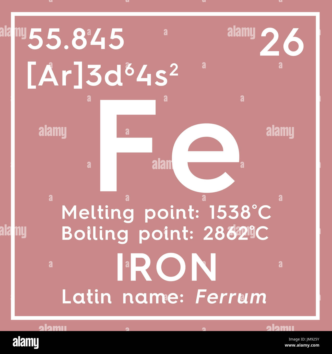 los metales de transicin elemento qumico de la tabla peridica de mendeleyev hierro en square cube concepto creativo - Tabla Periodica Solo Los Metales