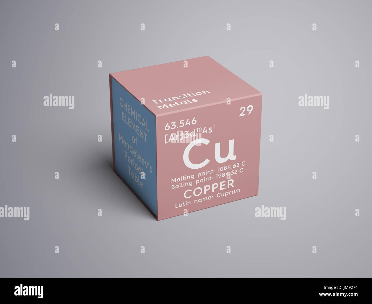El cobre cuprum los metales de transicin elemento qumico de la el cobre cuprum los metales de transicin elemento qumico de la tabla peridica de mendeleyev cobre en square cube concepto creativo urtaz Gallery