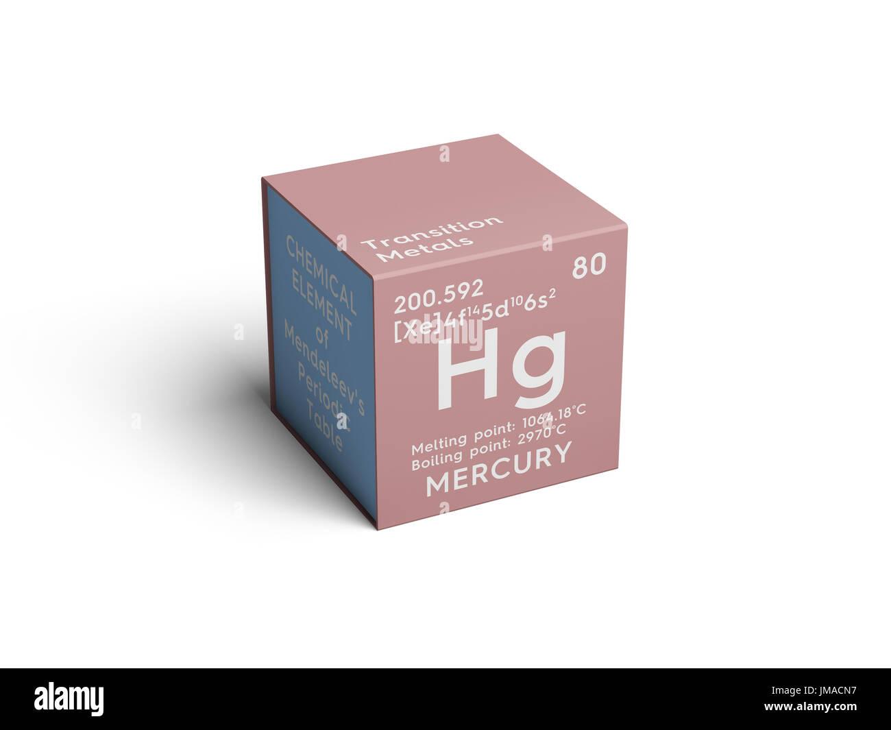 El mercurio los metales de transicin elemento qumico de la tabla el mercurio los metales de transicin elemento qumico de la tabla peridica de mendeleyev mercurio en square cube concepto creativo urtaz Image collections