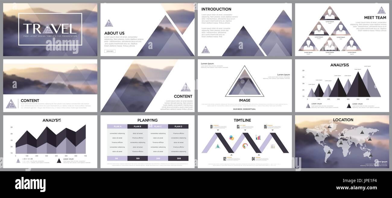 Elemento de diseño de infografía para plantillas de presentación ...