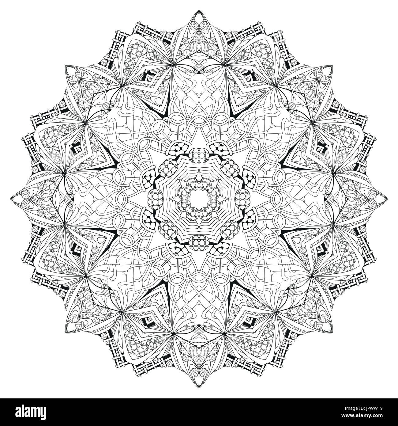 Libro para colorear de adultos del vector texturas. Arte diseño ...