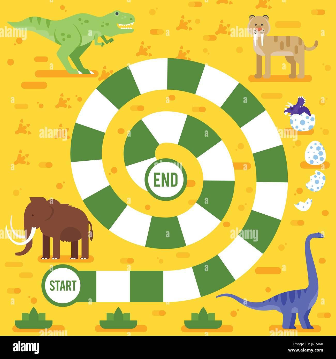 Estilo Plano Vector Ilustracion De Ninos Juegos De Mesa Con Los