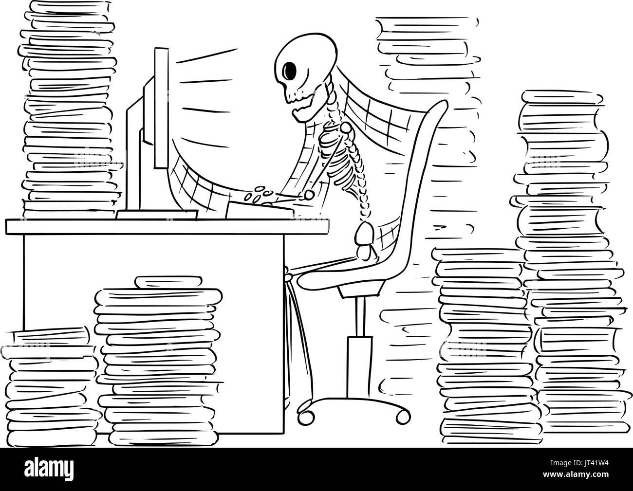 Ilustración vectorial de dibujos animados del esqueleto humano ...