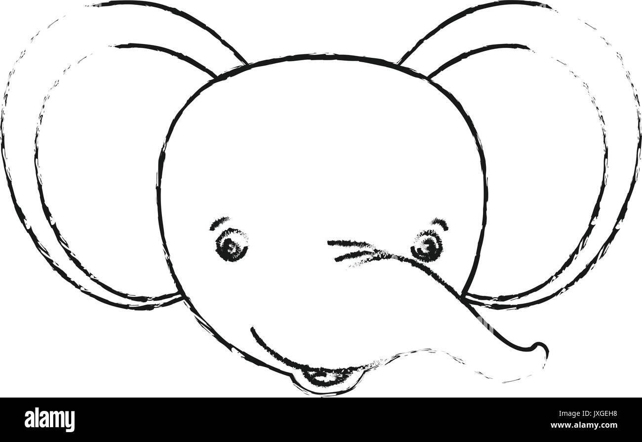 Fantástico Lindos Elefantes Para Colorear Patrón - Dibujos Para ...