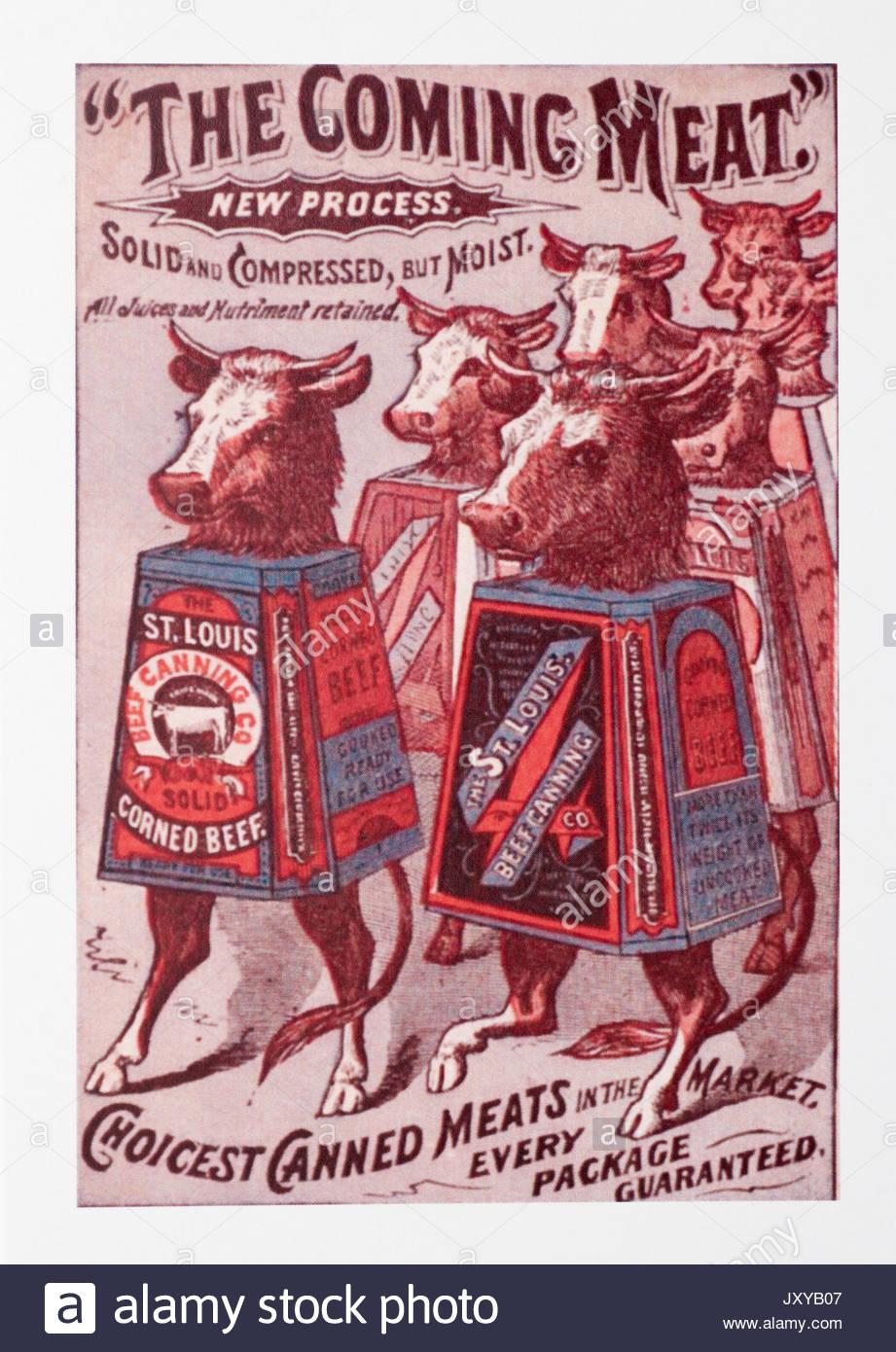 Vintage Cocina publicidad Carteles publicitarios conservas de carnes ...