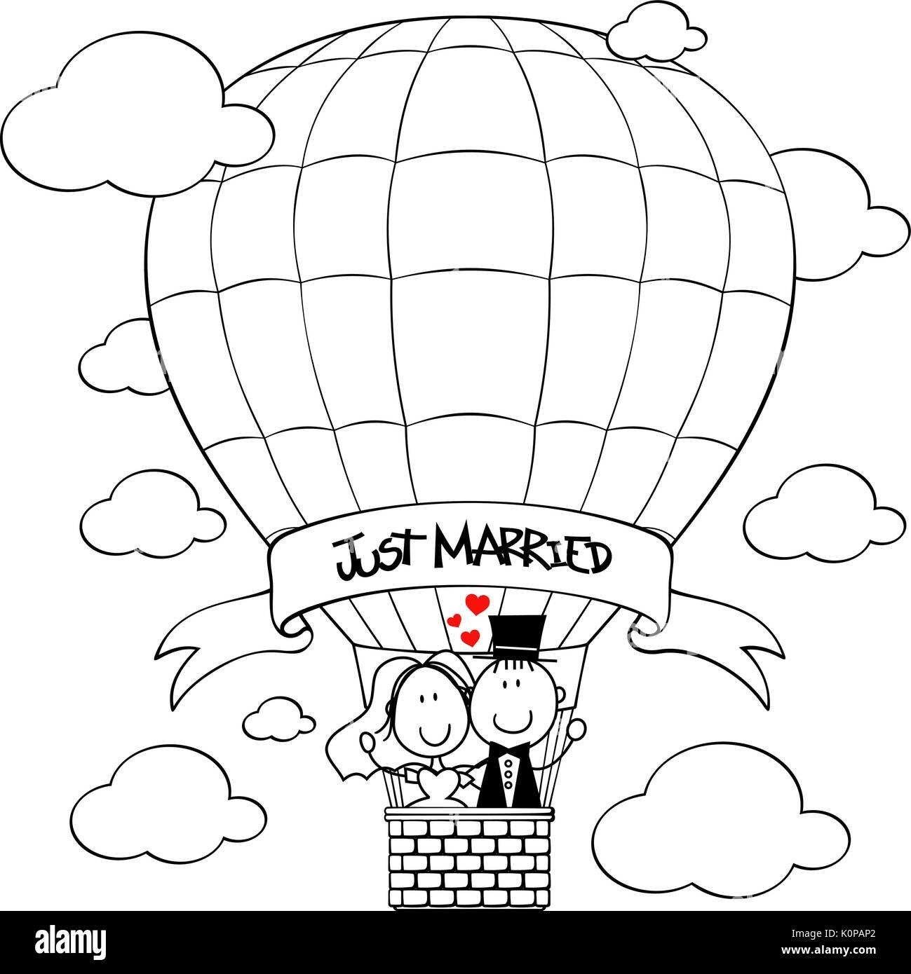 Hot Air Balloon Cartoon Imágenes De Stock & Hot Air Balloon Cartoon ...