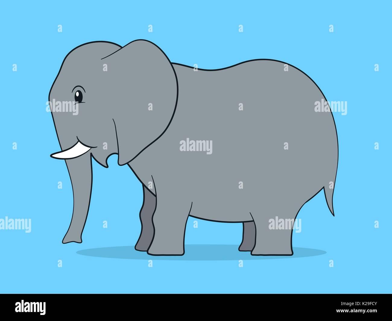 Bonito Elefante Uñas Colmillo Significado De Diseño Viñeta - Ideas ...