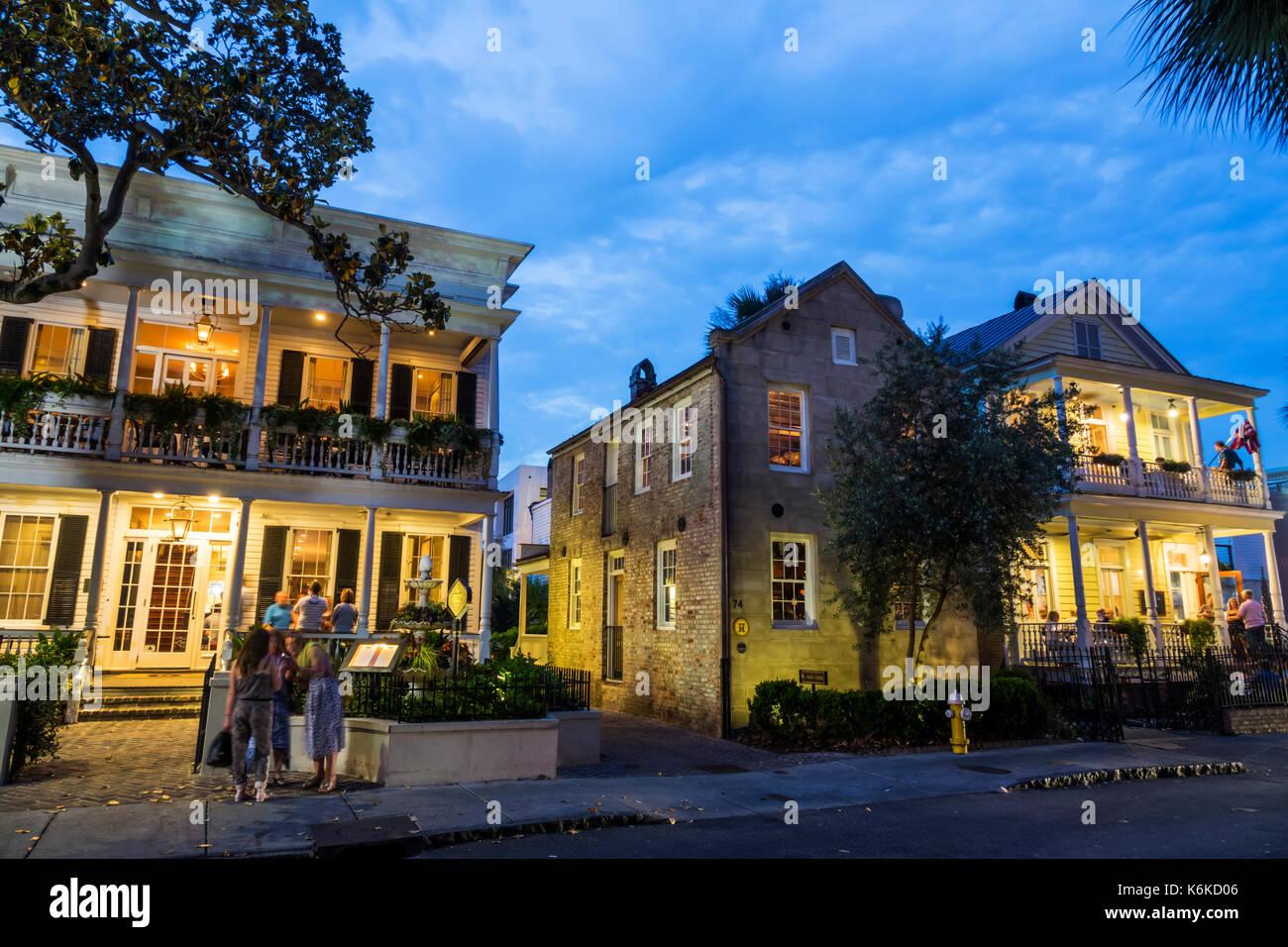 Charleston, Carolina del Sur SC Centro Histórico Queen Street Poogan ...
