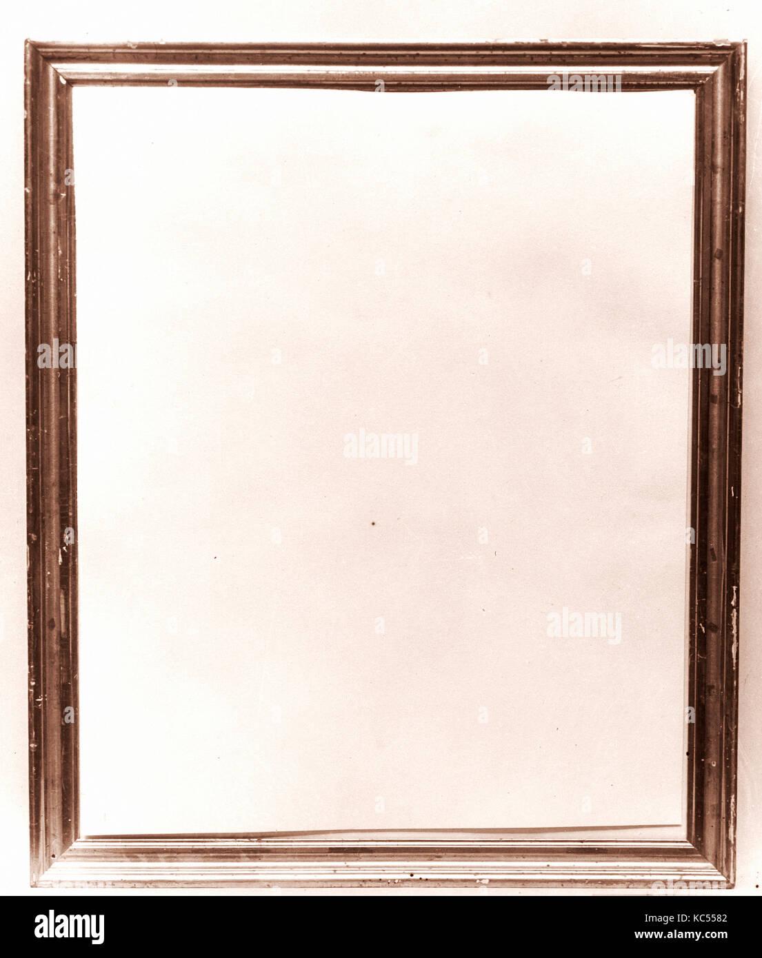 Bastidor, 1830-70, madera, dorados, 24 7/8 x 20 11/16 x 1 in. (63,2 ...