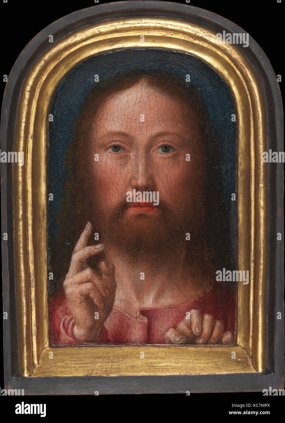 Cristo bendición, ca. 1500-1505, oleo sobre madera, en general ...